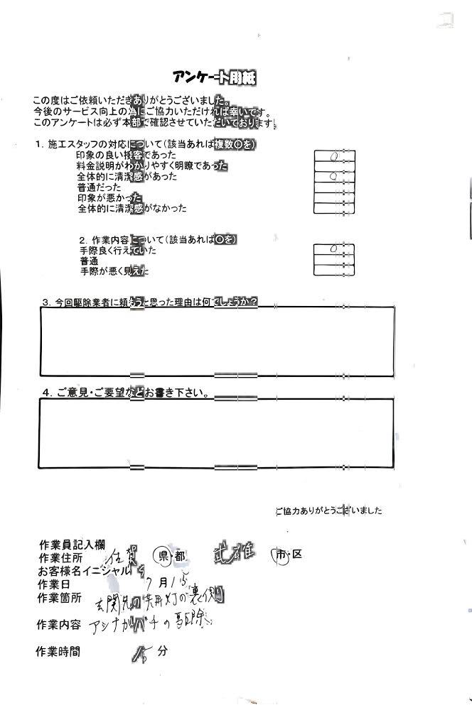 佐賀県武雄市 アシナガバチ ハチ王